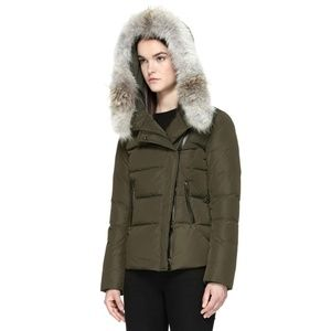 Mackage Adi Bomber Jacket with Real Fur Trim